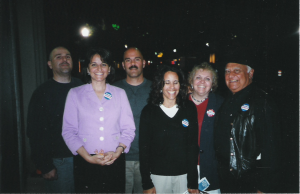 Our family on election night, 2006.
