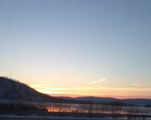 Sunrise along the Susquehanna River, December 16, 2013.