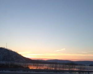 Sunrise along the Susquehanna River, December 16, 2013.